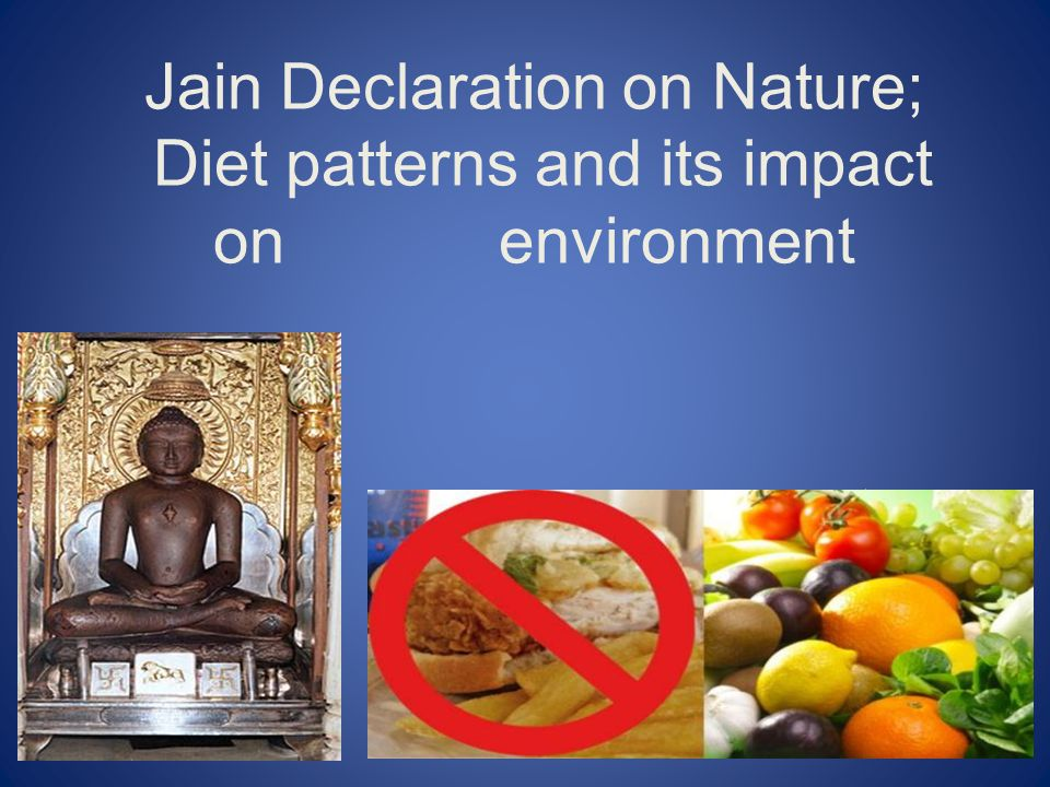 Jain Declaration on Nature; Diet patterns and its impact on environment