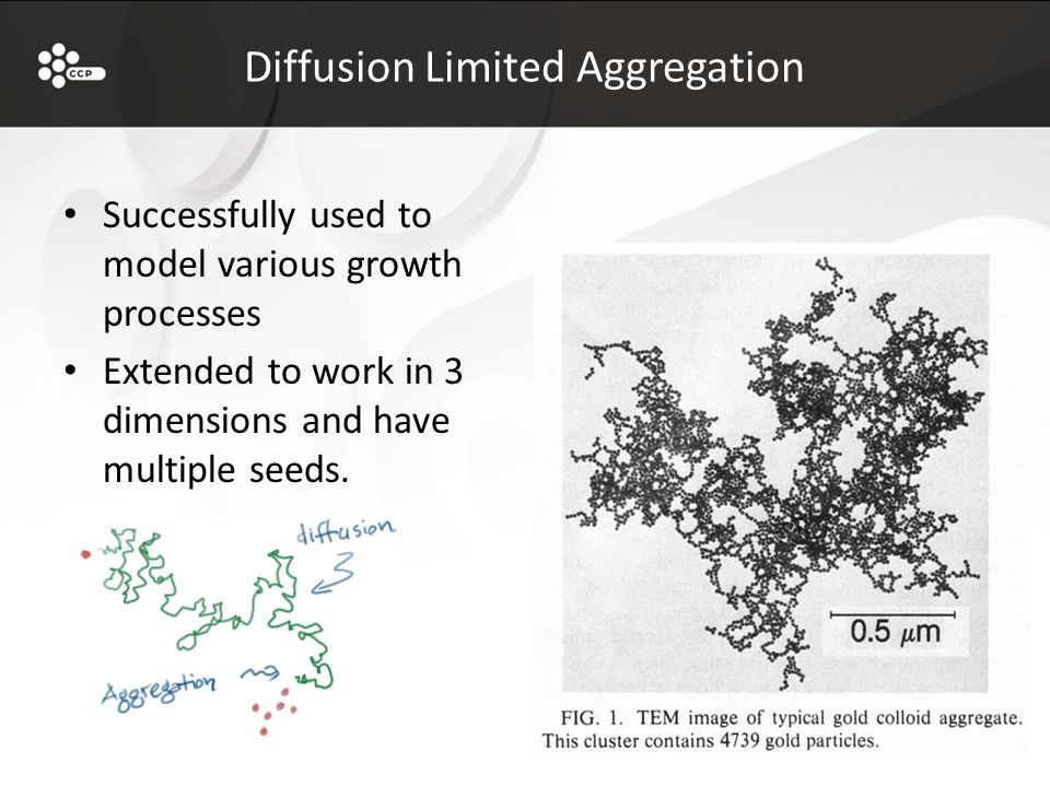 Diffusion Limited Aggregation Successfully used to model various growth processes Extended to work in 3 dimensions and have multiple seeds.