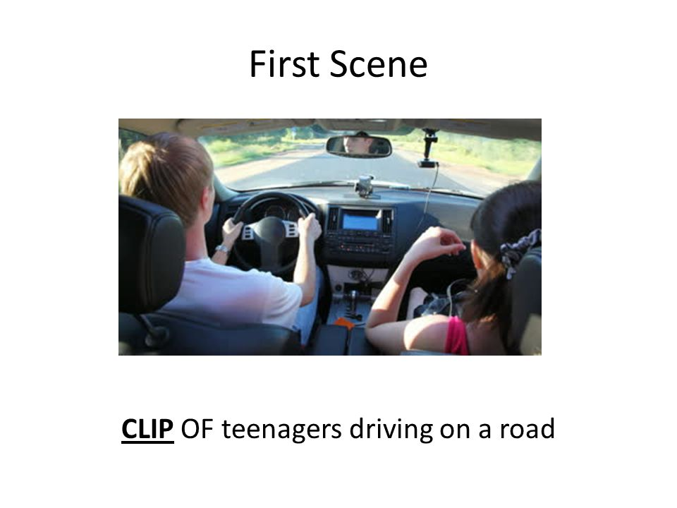 First Scene CLIP OF teenagers driving on a road