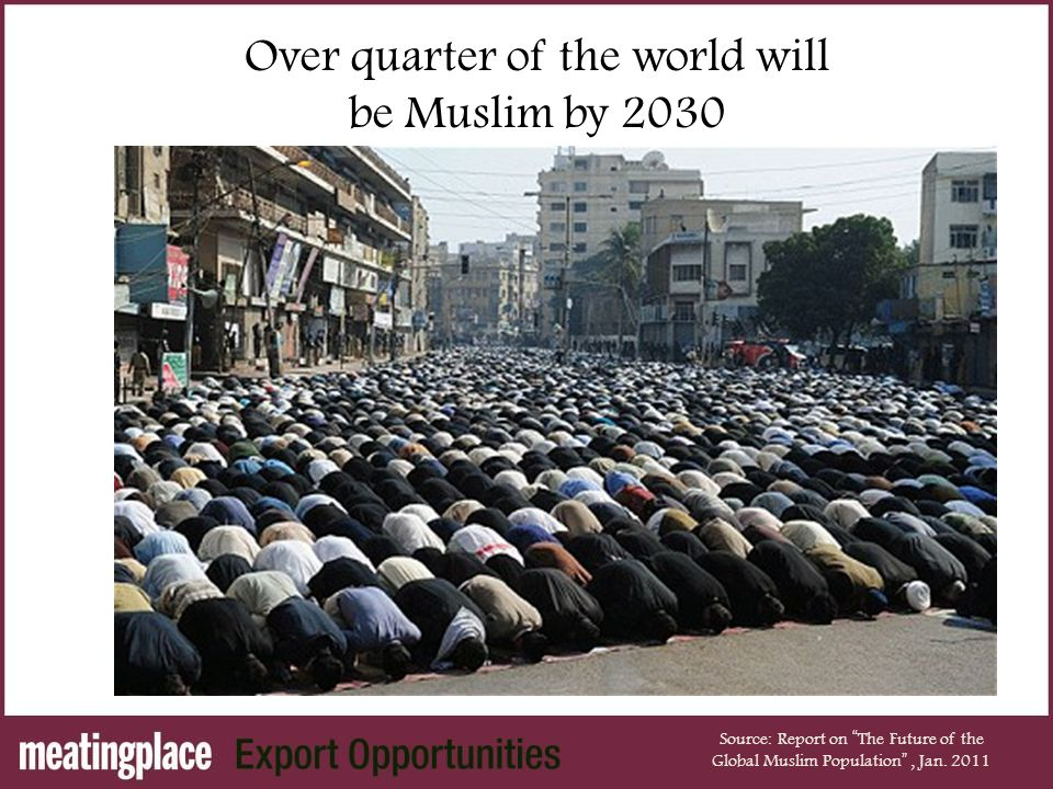 Over quarter of the world will be Muslim by 2030 Source: Report on The Future of the Global Muslim Population , Jan.