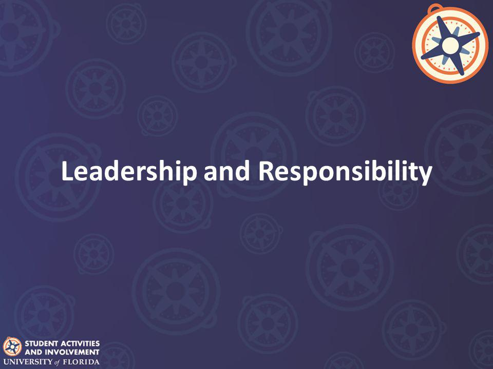 Leadership and Responsibility