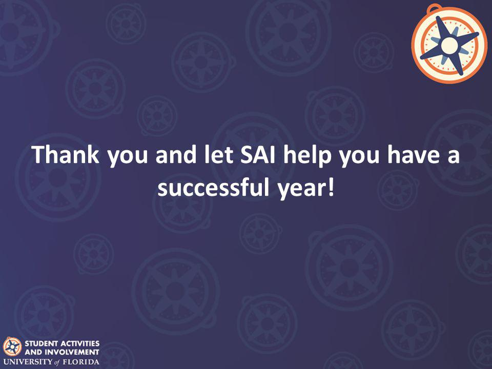 Thank you and let SAI help you have a successful year!