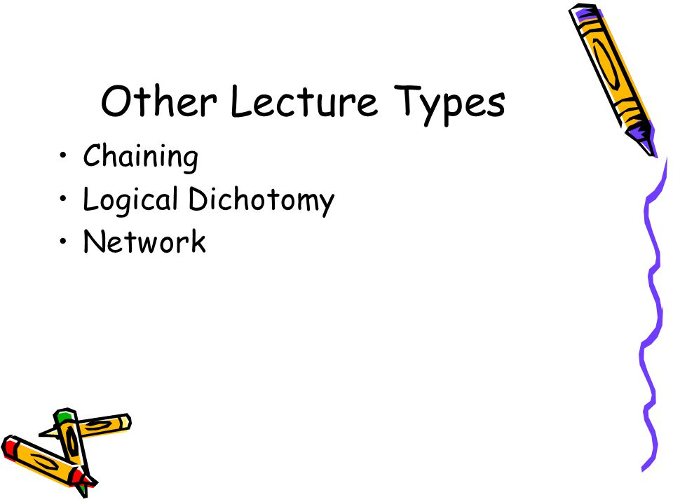 Other Lecture Types Chaining Logical Dichotomy Network