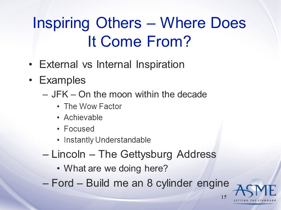 Inspiring Others – Where Does It Come From.