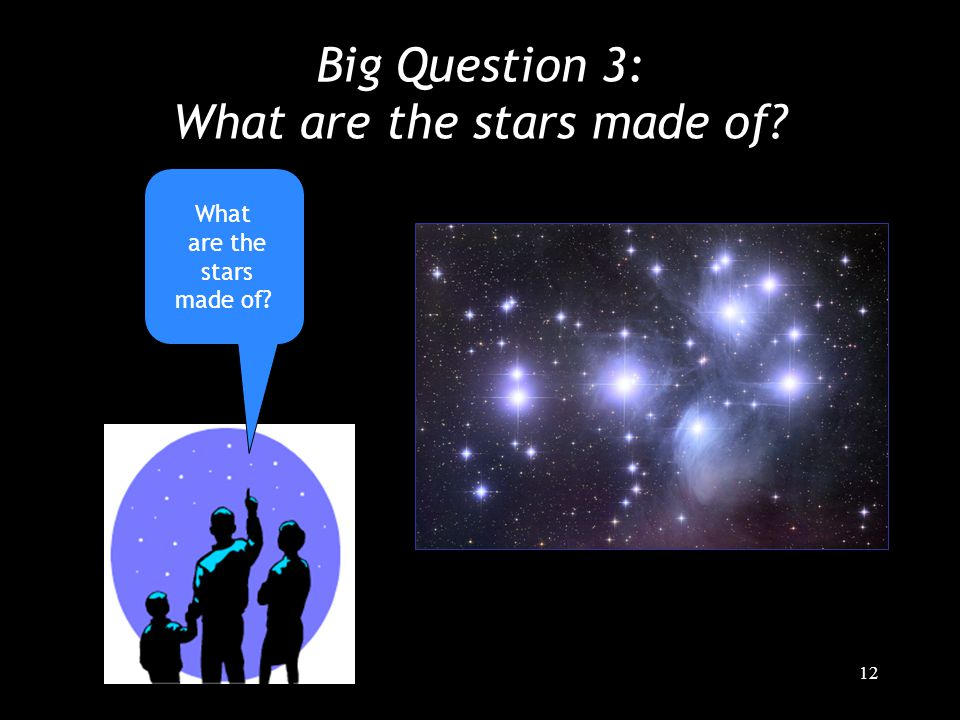 12 Big Question 3: What are the stars made of What are the stars made of