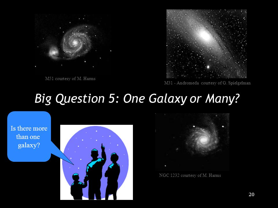 20 Big Question 5: One Galaxy or Many. M31 - Andromeda courtesy of G.