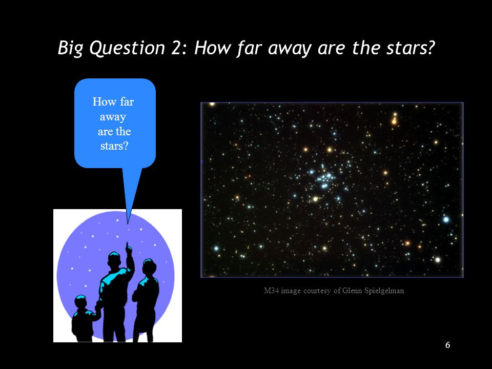 6 Big Question 2: How far away are the stars. How far away are the stars.