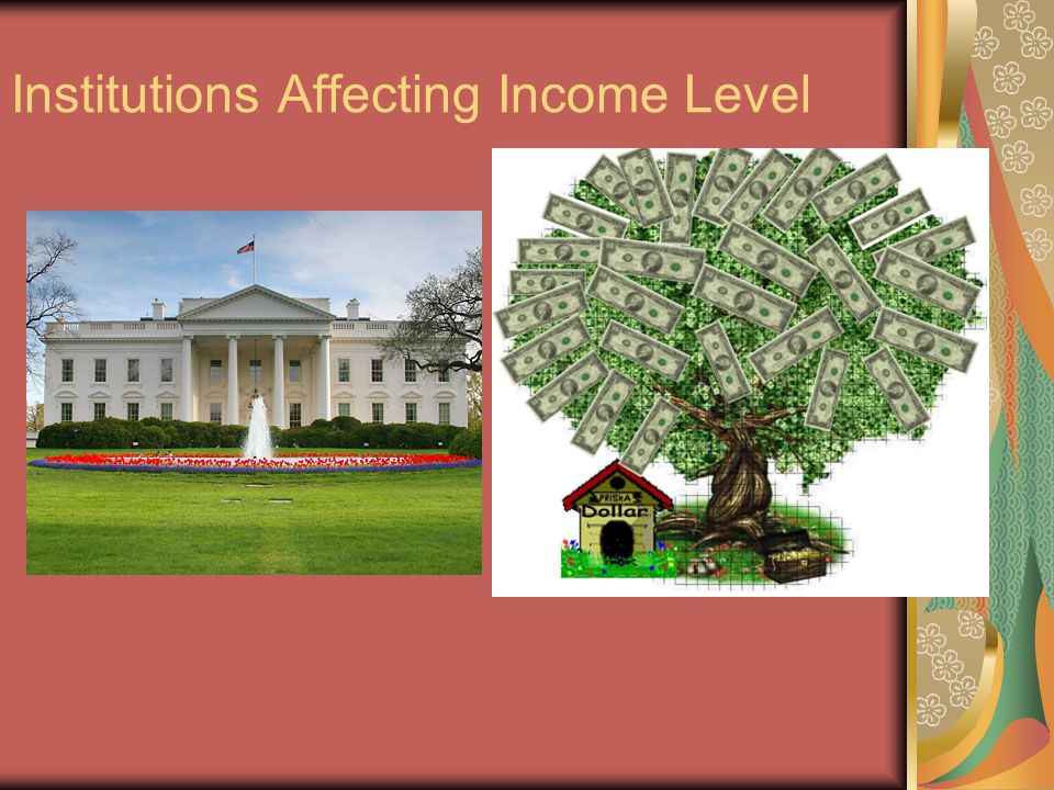 Institutions Affecting Income Level