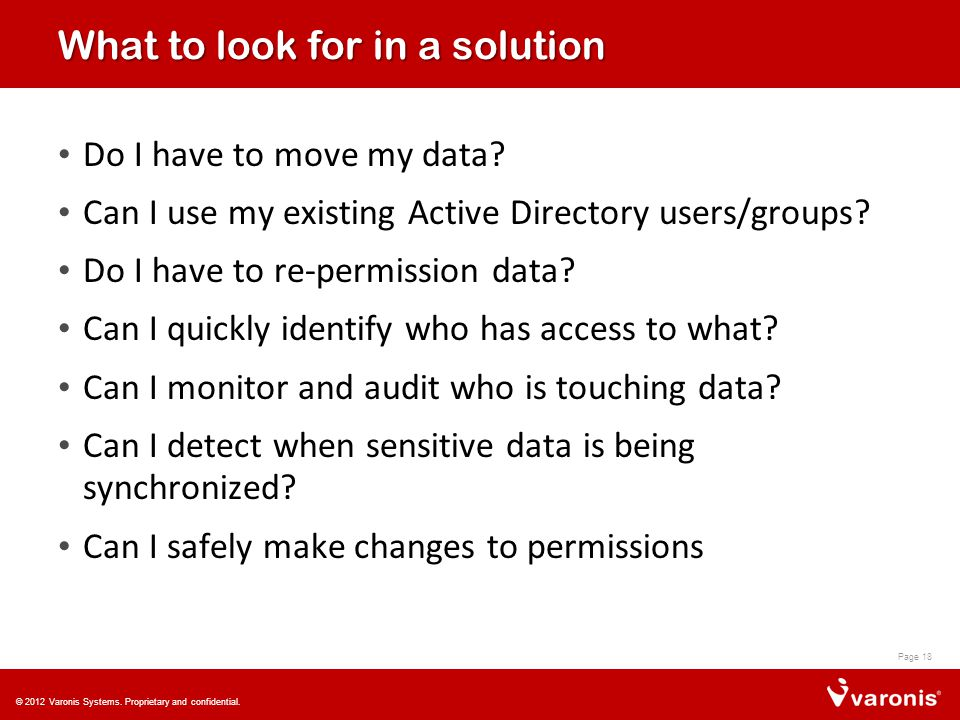 What to look for in a solution Do I have to move my data.