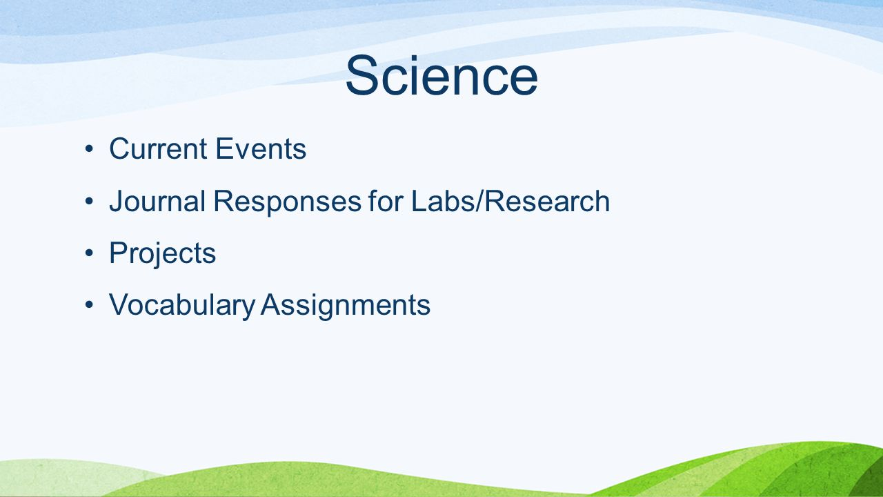 Science Current Events Journal Responses for Labs/Research Projects Vocabulary Assignments