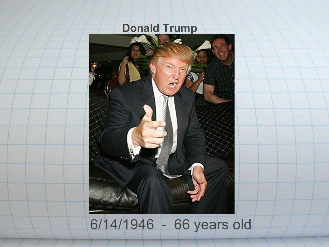 Donald Trump 6/14/1946 - 66 years old