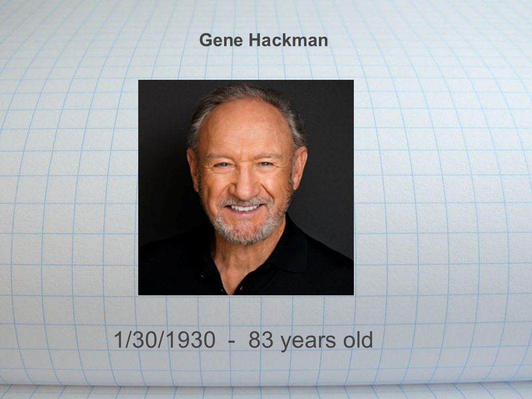 Gene Hackman 1/30/1930 - 83 years old