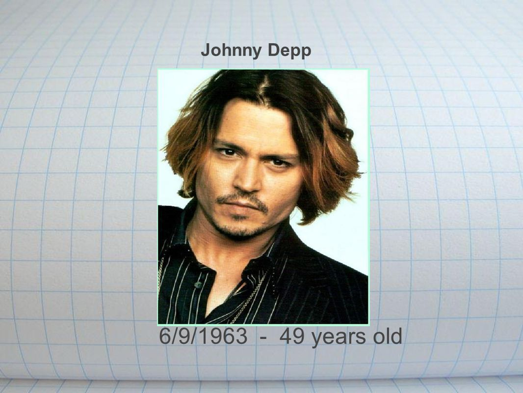 Johnny Depp 6/9/1963 - 49 years old