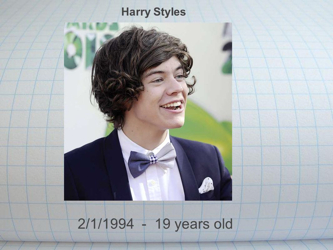 Harry Styles 2/1/1994 - 19 years old