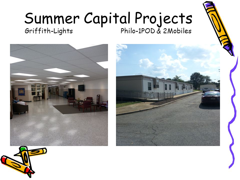 Summer Capital Projects Griffith-LightsPhilo-1POD & 2Mobiles