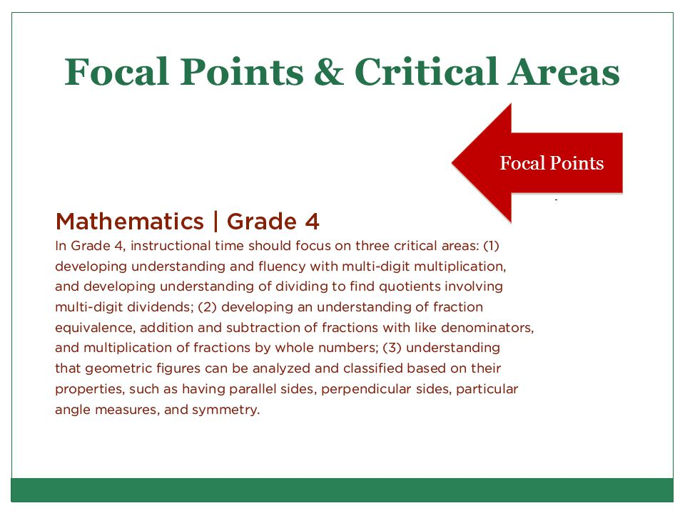 Focal Points & Critical Areas Focal Points