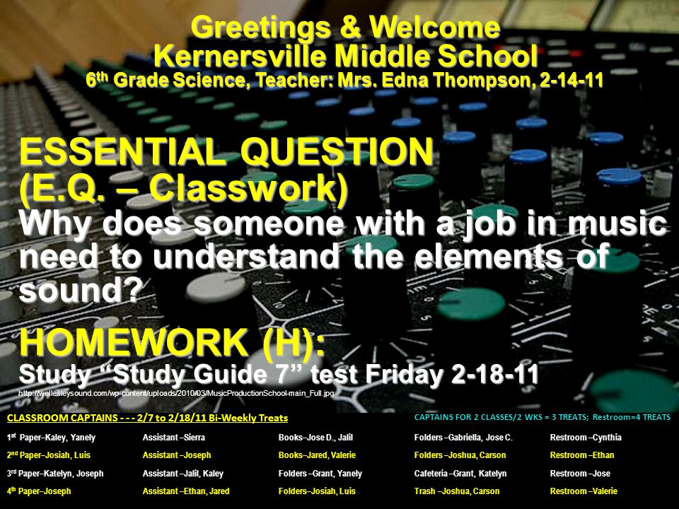 Greetings & Welcome Kernersville Middle School 6 th Grade Science, Teacher: Mrs.