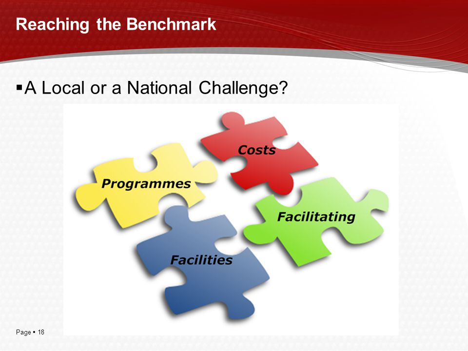 Page  18 Reaching the Benchmark  A Local or a National Challenge