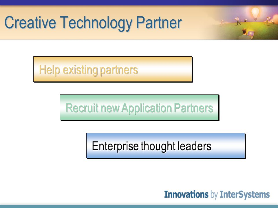 Creative Technology Partner Enterprise thought leaders