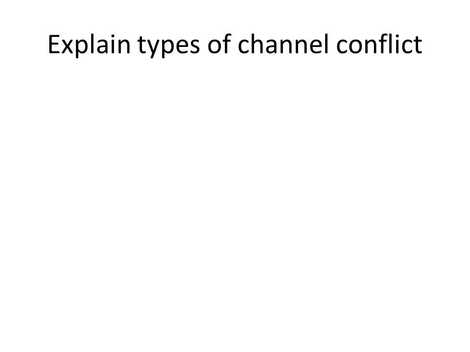 Explain types of channel conflict