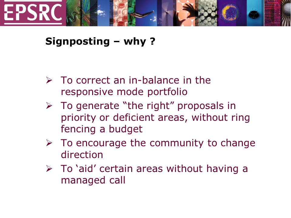 Signposting – why .