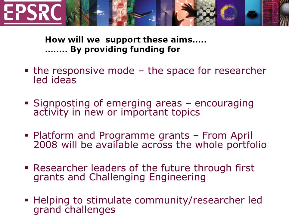 How will we support these aims….. ……..