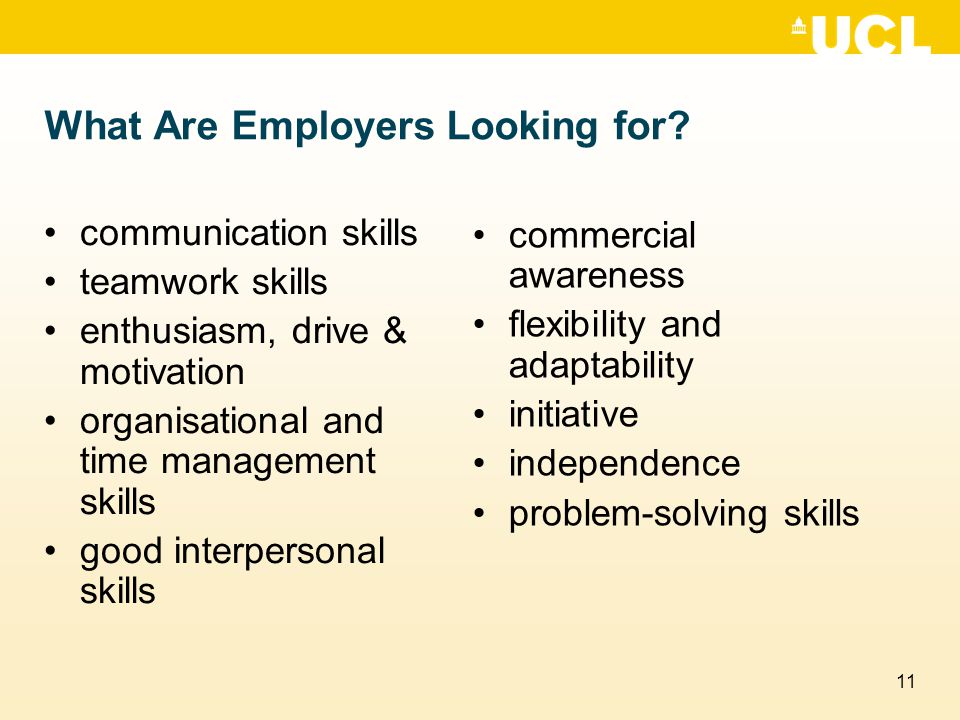11 What Are Employers Looking for.