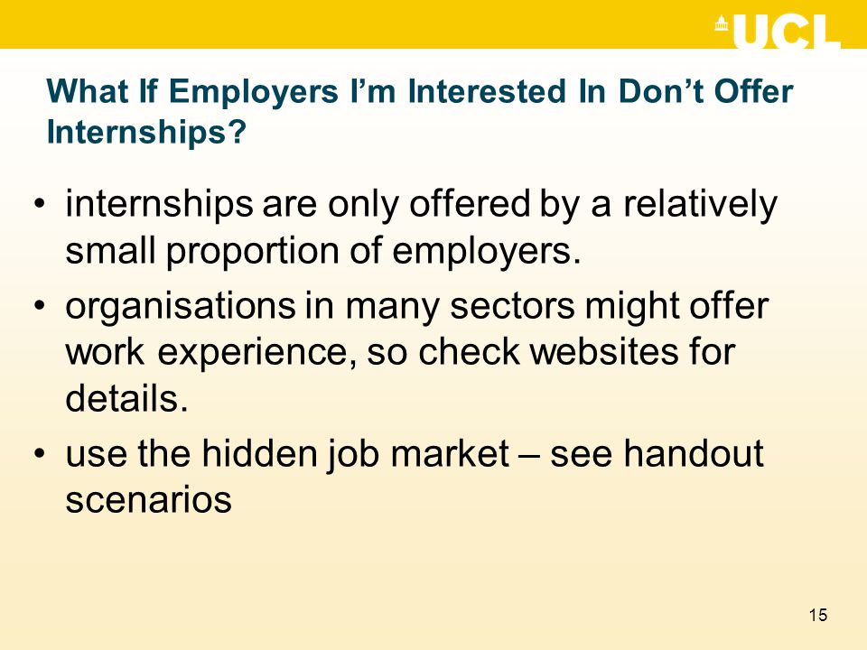 15 What If Employers I'm Interested In Don't Offer Internships.