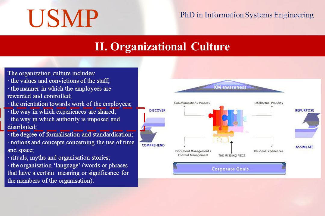 11 USMP PhD in Information Systems Engineering II.