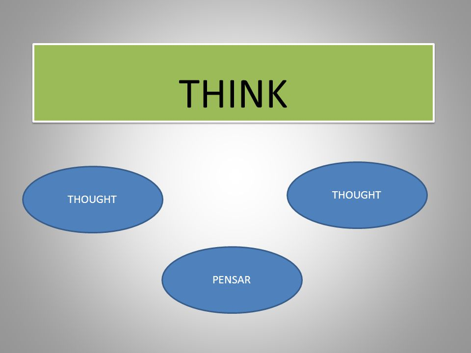THINK THOUGHT PENSAR