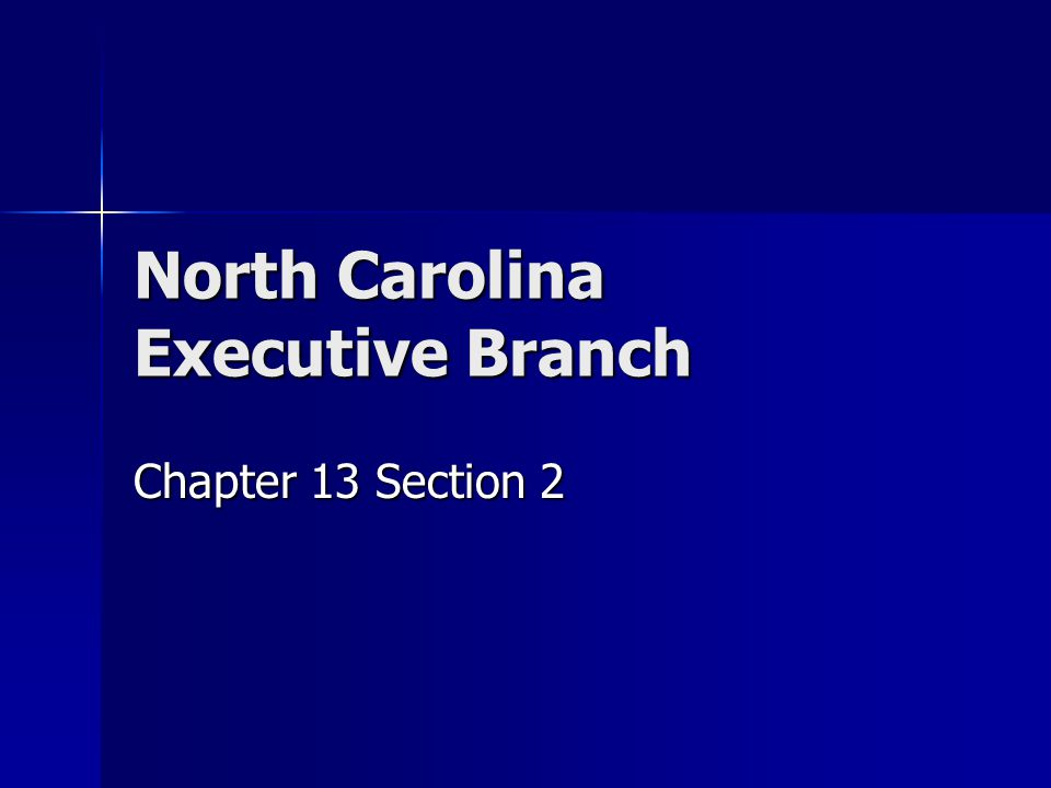North Carolina Executive Branch Chapter 13 Section 2