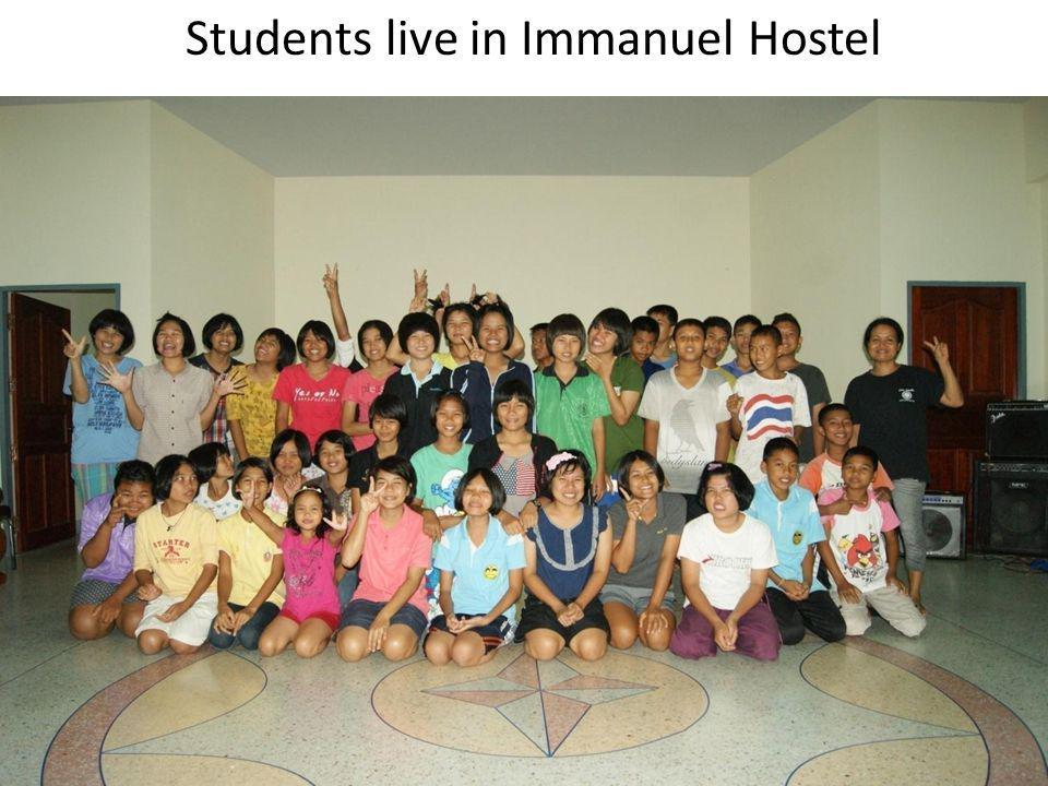 Students live in Immanuel Hostel