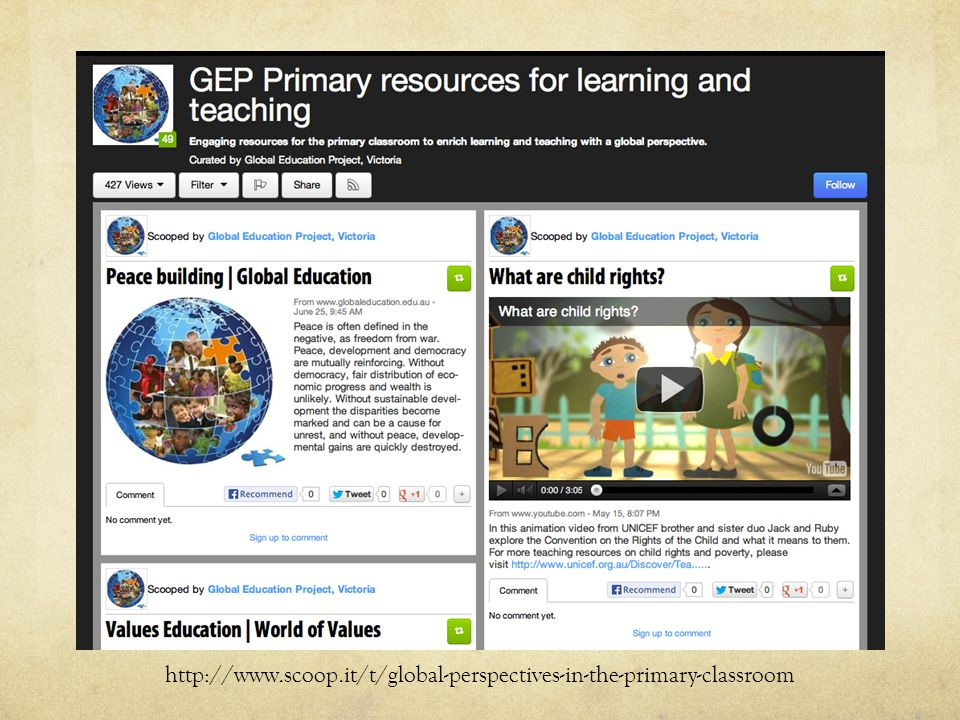 http://www.scoop.it/t/global-perspectives-in-the-primary-classroom