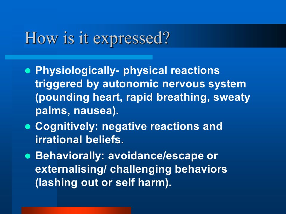 Why Anxiety and Stress.