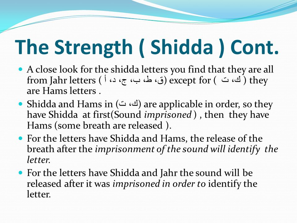 The Strength ( Shidda ) Cont.