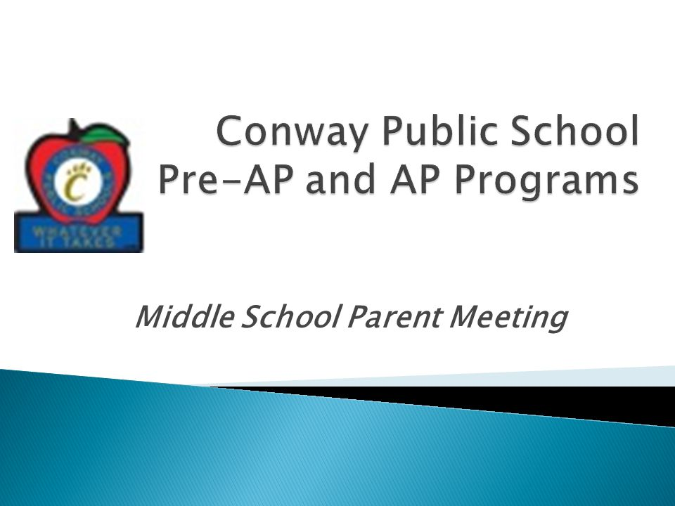 Middle School Parent Meeting
