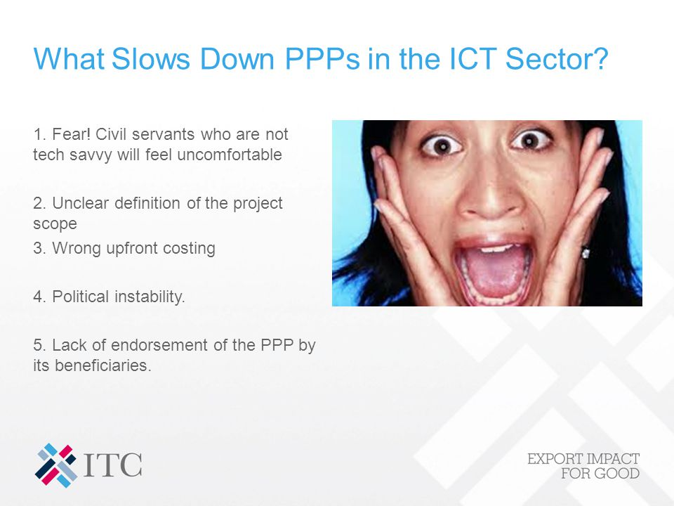 What Slows Down PPPs in the ICT Sector. 1. Fear.
