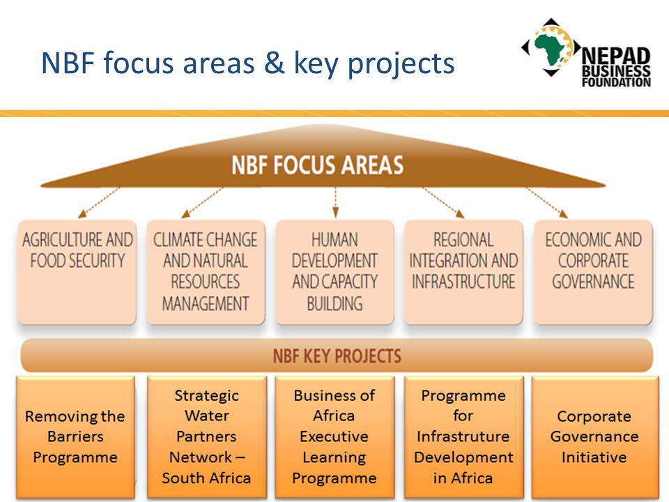 NBF focus areas & key projects