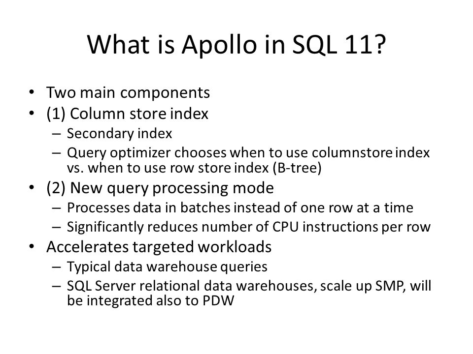 What is Apollo in SQL 11.