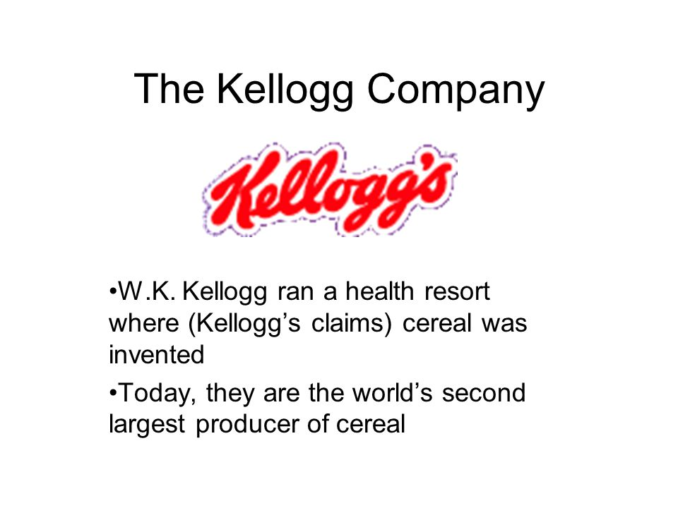 The Kellogg Company W.K.