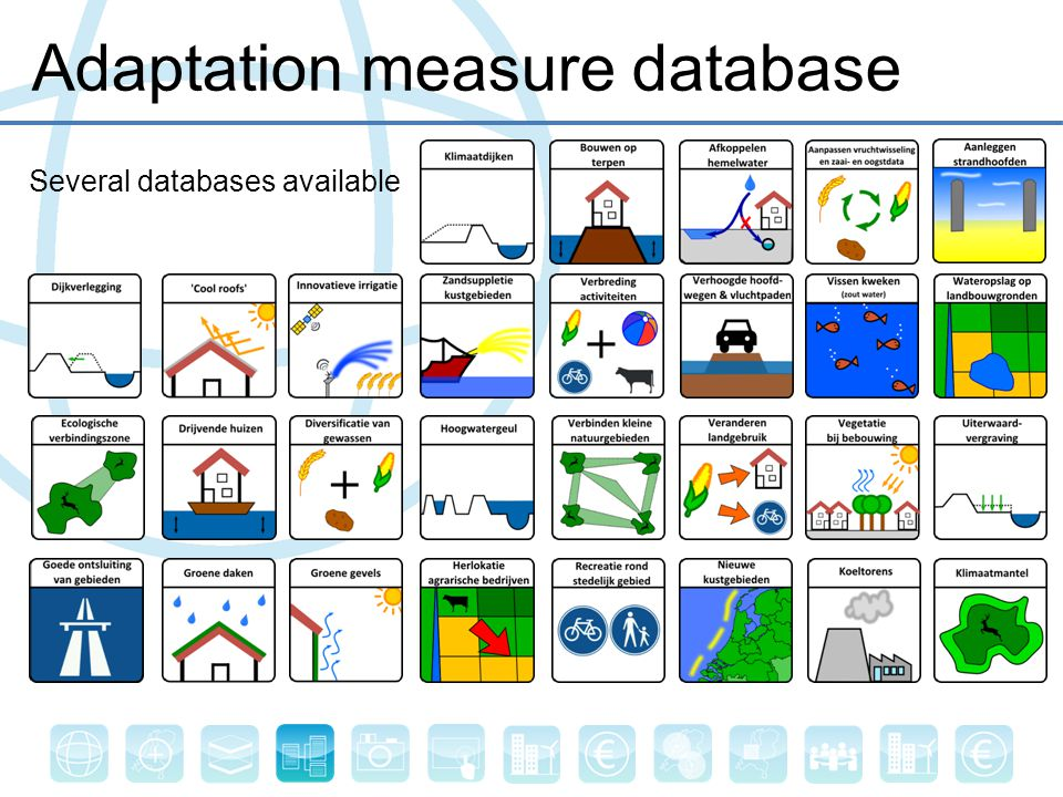 Adaptation measure database Several databases available