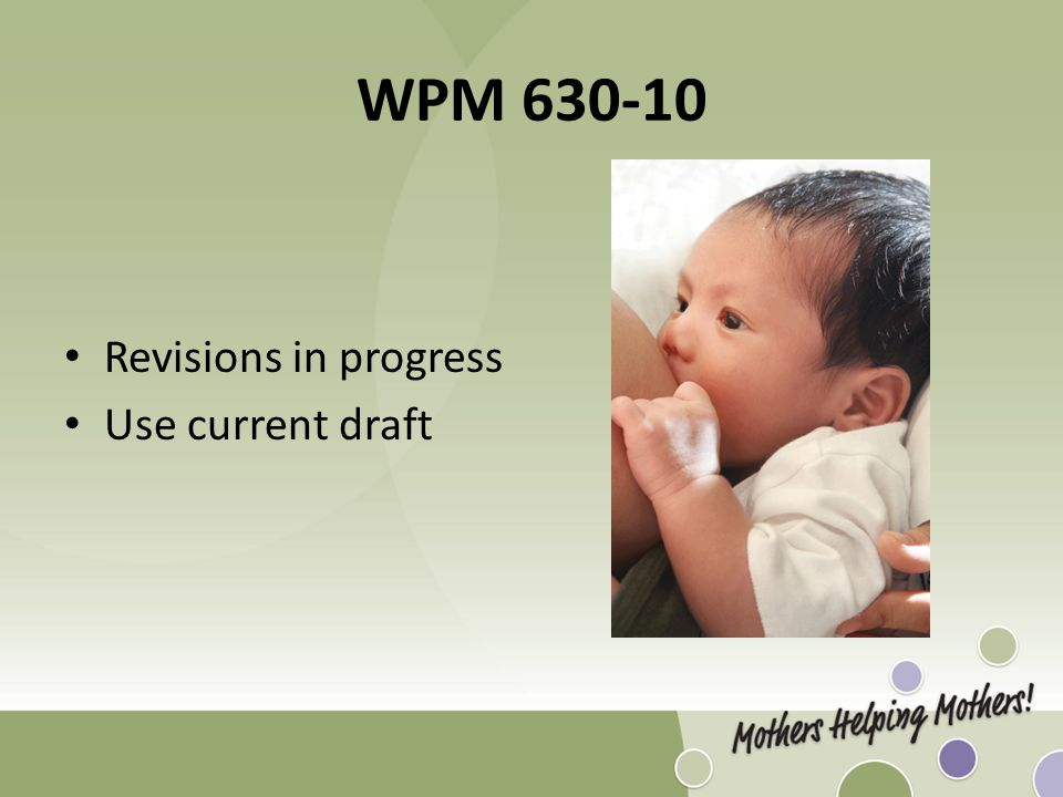 WPM 630-10 Revisions in progress Use current draft