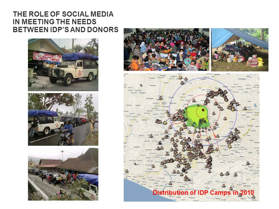 Distribution of IDP Camps in 2010 THE ROLE OF SOCIAL MEDIA IN MEETING THE NEEDS BETWEEN IDP'S AND DONORS