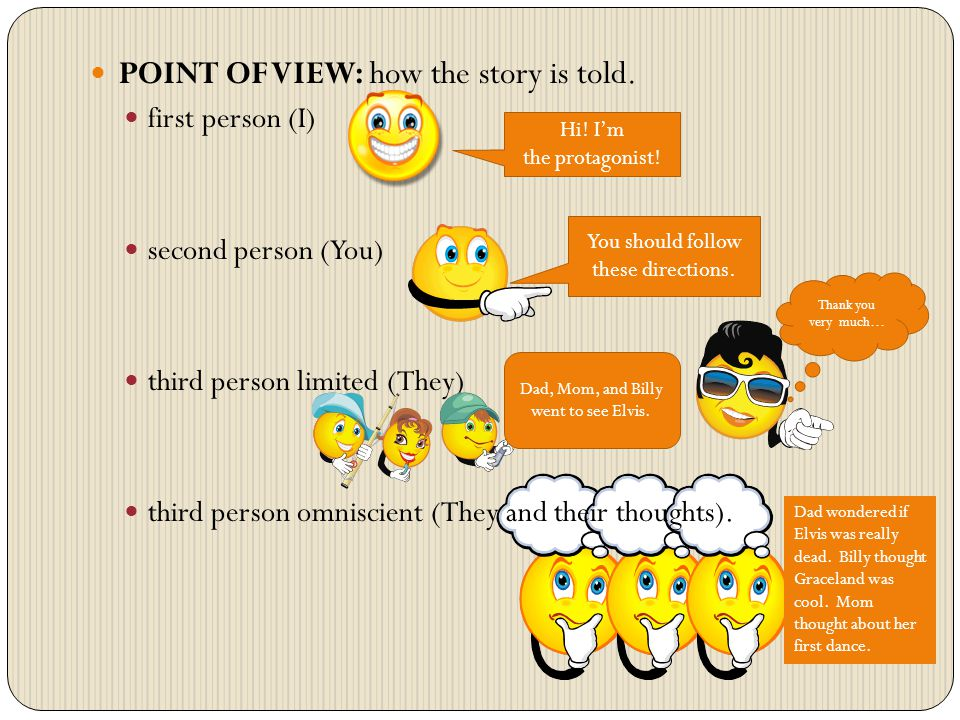 POINT OF VIEW: how the story is told.