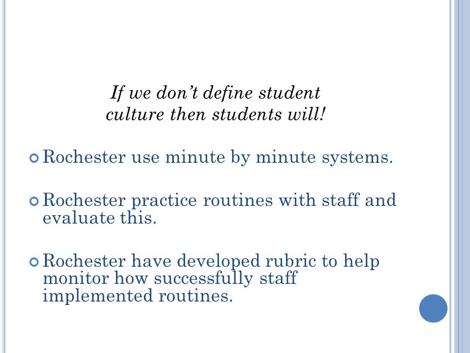 If we don't define student culture then students will.