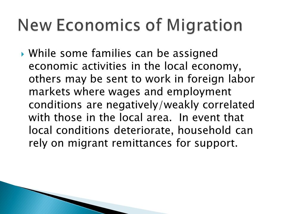  While some families can be assigned economic activities in the local economy, others may be sent to work in foreign labor markets where wages and employment conditions are negatively/weakly correlated with those in the local area.