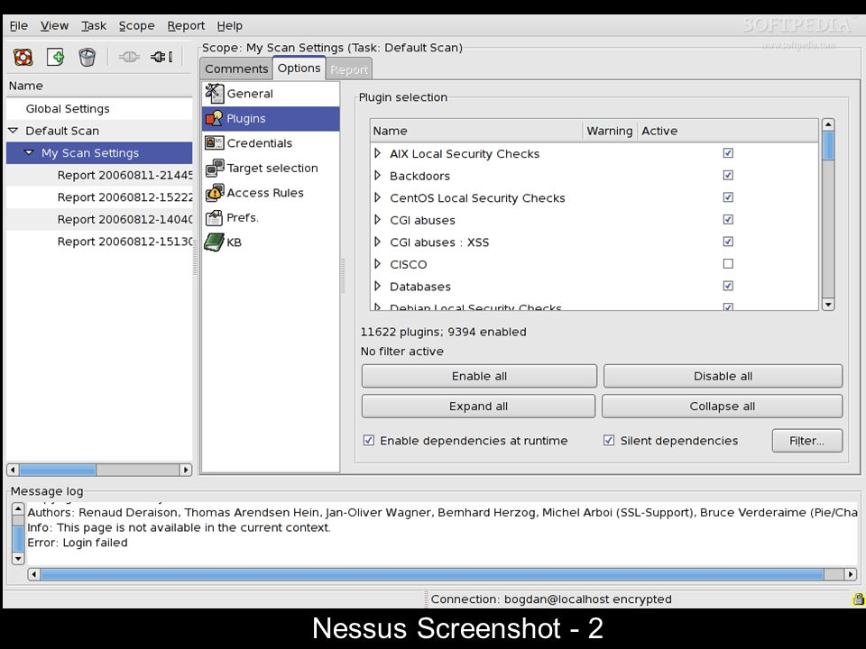 Nessus Screenshot - 2