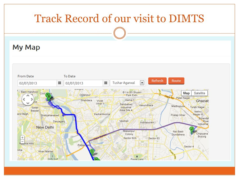 Track Record of our visit to DIMTS