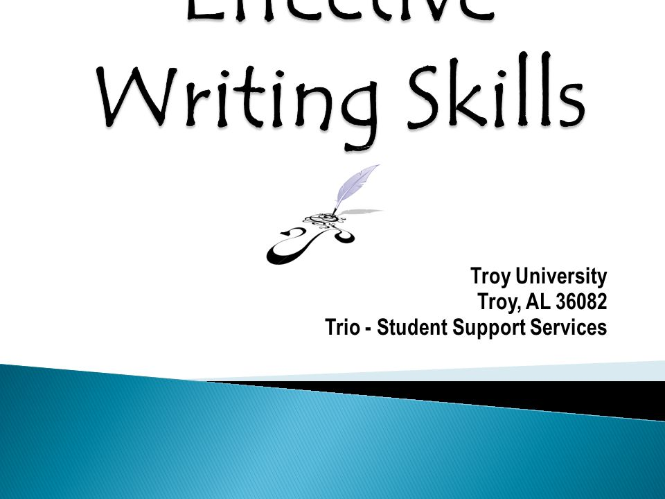 Troy University Troy, AL 36082 Trio - Student Support Services
