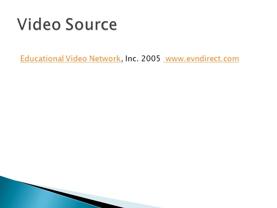 Educational Video NetworkEducational Video Network, Inc. 2005 www.evndirect.com www.evndirect.com